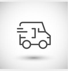 delivery line icon vector image