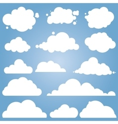 different cloud set vector image