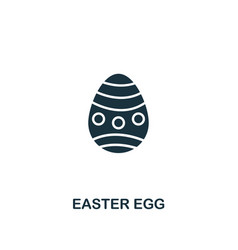 easter egg icon creative element design from vector image