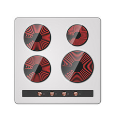 Electric hotplate vector