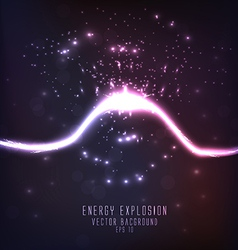 energy explosion vector image