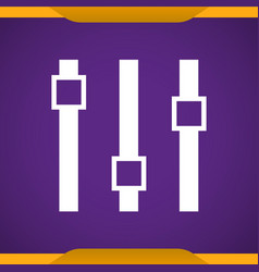 Equalizer icon for web and mobile vector