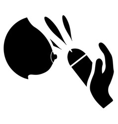 Female breast blowjob ejaculation flat icon vector