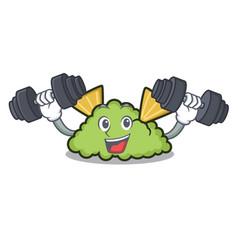 Fitness guacamole character cartoon style vector