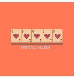 Flat icon on stylish background royal flush vector