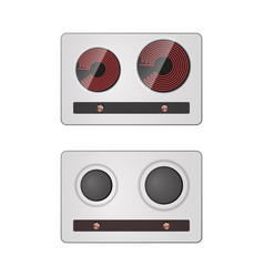Gas and electric stove vector