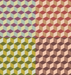 geometric cubes vector image vector image
