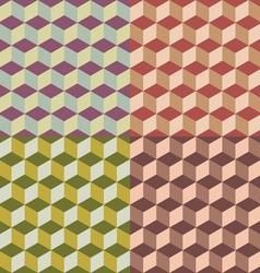 Geometric cubes vector