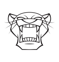 graphic head panther vector image