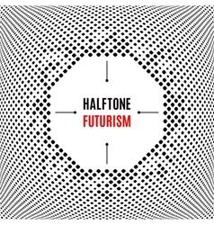 Halftone dot design technology frame Background vector
