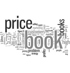 How to price your e book vector