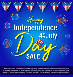 independence day of united states of america back vector image