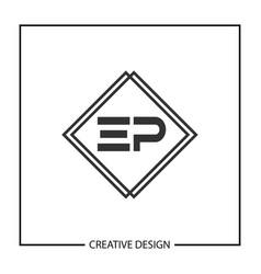 Initial letter ep logo template design vector