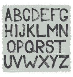Interesting alphabet of capital letters vector
