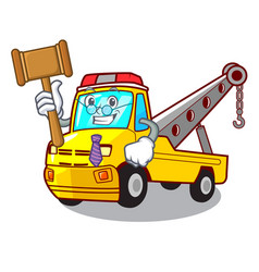 Judge tow truck for vehicle branding character vector