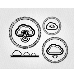 lables stamps tags cloud connection concept vector image