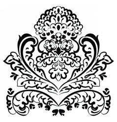 Lace floral element vector