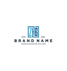 Letter zhg square logo design vector