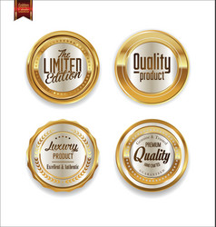 luxury sale golden labels collection 4 vector image