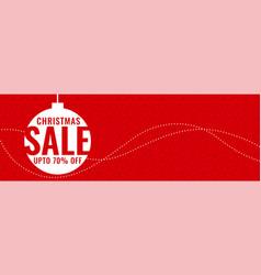 Minimal christmas festival sale red banner vector