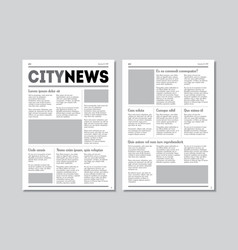 newspaper city news with headers vector image