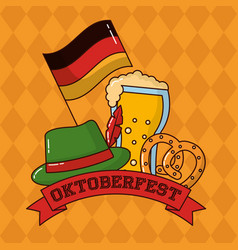 Oktoberfest germany celebration vector