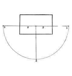 Parallel perspective common point of intersection vector