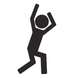Person with arms up pictogram icon vector