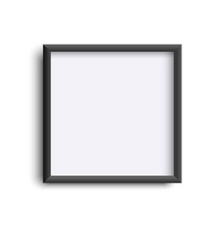 photoframe isolated on white realistic square vector image