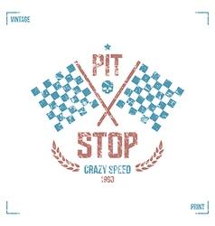 Pit stop emblem vector