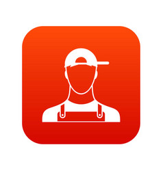 Plumber icon digital red vector