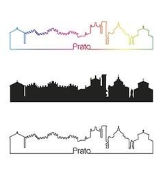 Prato skyline linear style with rainbow vector image