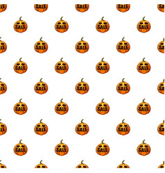 pumpkin with word sale pattern vector image