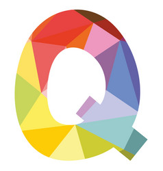 q colorful letter isolated on white background vector image