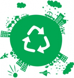 recycle planet vector image