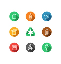 Recycling icons collection vector image