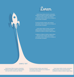 Rocket with smoke business startup concept vector