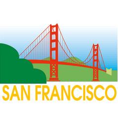 san francisco golden gate bridge symbol vector image