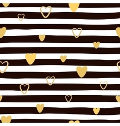 Seamless hand drawnl striped pattern with golden vector image