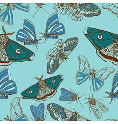 seamless moth background vector image