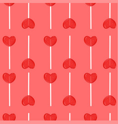 seamless pattern with lollipops in form vector image