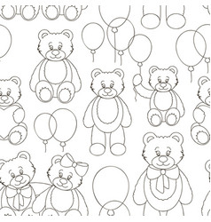set of bear icon pattern vector image