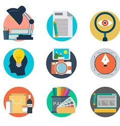 Set of flat design style concept icons for graphic vector