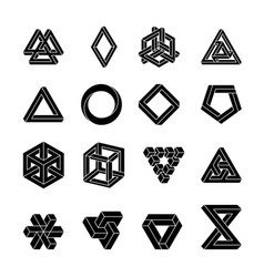 Set of impossible shapes optical vector
