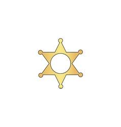Sheriff star computer symbol vector image