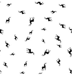 silhouettes of deer on white background seamless vector image