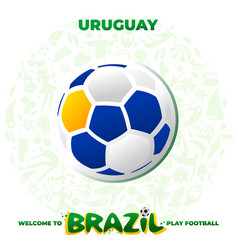 soccer ball in the colors of the national flag vector image