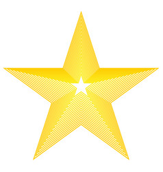 star icon golden star on blank background vector image