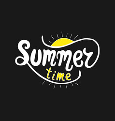 summer time unique lettering poster art vector image