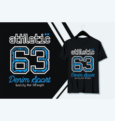 typography athletic t-shirt design vector image